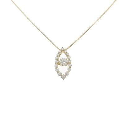 【新品】K18YGダイヤモンドネックレス 0.332ct・G・SI2・GOOD