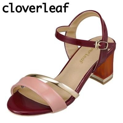 クローバーリーフ cloverleaf CL-133 レディース | サンダル | クリアヒール | ゴールドライン | チャンキーヒール | レッド
