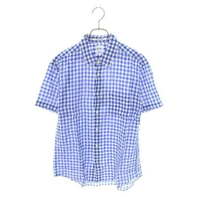 ベドウィン BEDWIN MAREK 16SB1503 サイズ:2 ギンガムチェック半袖シャツ 中古 BS99