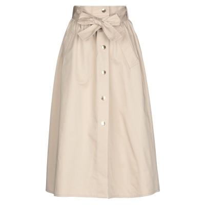 BOUTIQUE MOSCHINO ロングスカート ベージュ 38 コットン 63% / ナイロン 37% ロングスカート