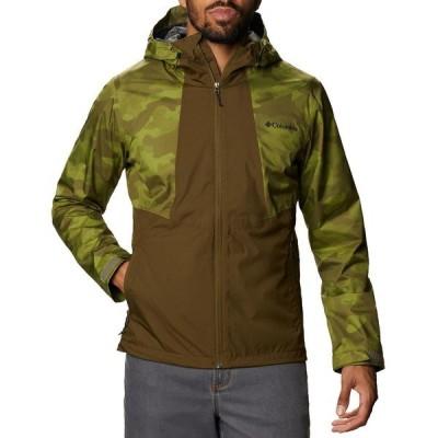 コロンビア ジャケット&ブルゾン アウター メンズ Columbia Men's Inner Limits II Rain Jacket NewOlive/MtchaSpttdCmo