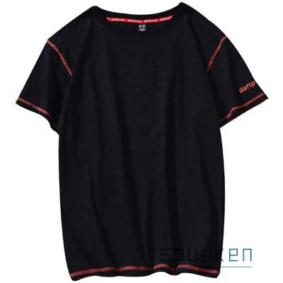 半袖Tシャツ カットソー メンズ 夏 無地 Tシャツ ラウンドネック シンプル ファッション ゆったり 通気性 薄手 快適 軽い 柔らかい