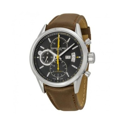 Freelancer Black Dial Stainless Steel Brown Leather Men's Watch