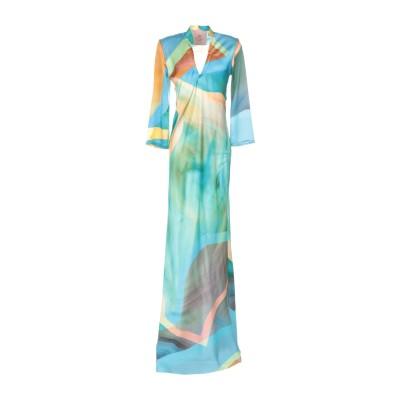 KITAGI® ロングワンピース&ドレス アジュールブルー 38 シルク 100% ロングワンピース&ドレス