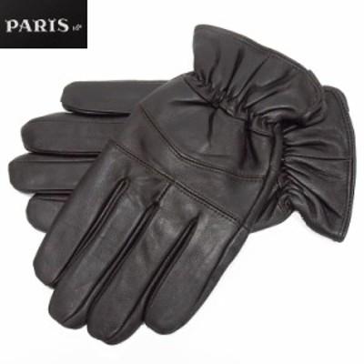 ◆手袋◆PARIS16e 羊革/シープスキン チョコ茶 メンズ グローブ メール便可 LAM-N04-BR