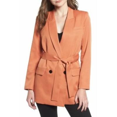 Blazer ブレザー ファッション 衣類 Mural NEW Rust Orange Womens Size XXL Plus Belted Blazer Jacket