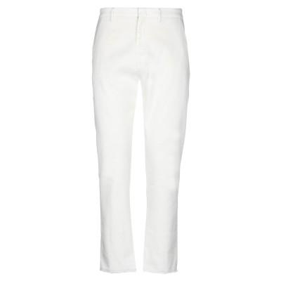 ペンス PENCE パンツ ホワイト 50 麻 65% / コットン 34% / ポリウレタン 1% パンツ