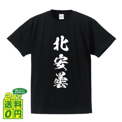 北安曇 オリジナル Tシャツ 書道家が書く プリント Tシャツ ( 長野 ) メンズ レディース キッズ