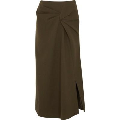 レジーナ ピヨ Rejina Pyo レディース ひざ丈スカート スカート Iris Brown Wool-Blend Skirt Brown