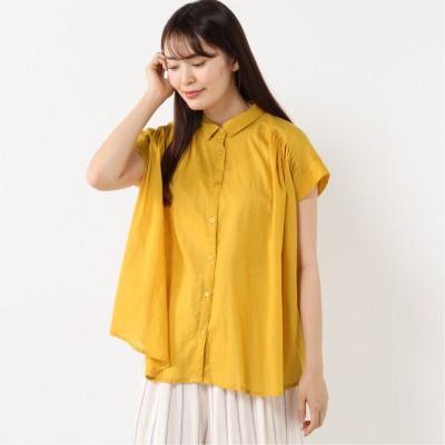 無地&プリントボイルギャザーシャツ(ページワン/PAGE ONE)