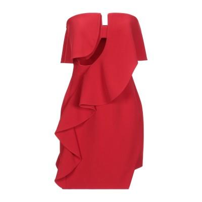 LAMANIA ミニワンピース&ドレス レッド 36 レーヨン 50% / アセテート 47% / ポリウレタン 3% ミニワンピース&ドレス