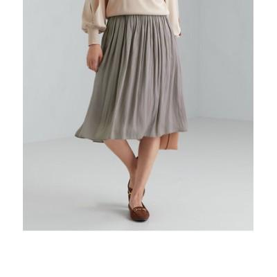 CS monable マットサテン ギャザー スカート