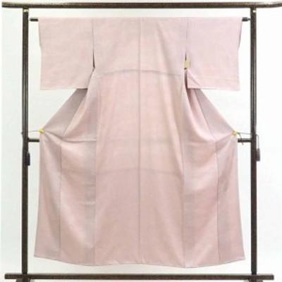 【中古】リサイクル着物 色無地 / 正絹薄ピンク地袷色無地 / レディース【裄Sサイズ】