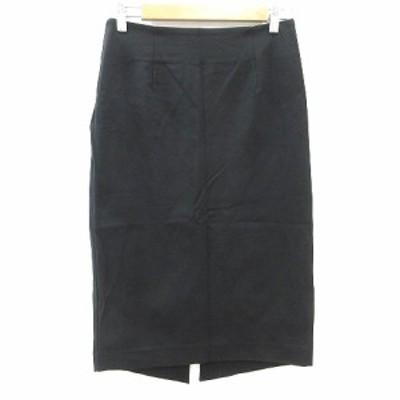 【中古】ラウンジドレス Loungedress タイトスカート ミモレ ロング 1 黒 ブラック /CT レディース