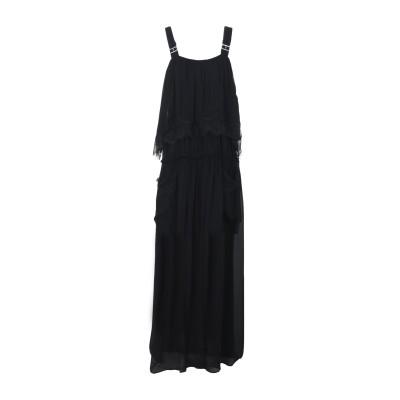 ツインセット シモーナ バルビエリ TWINSET ロングワンピース&ドレス ブラック 38 レーヨン 100% ロングワンピース&ドレス