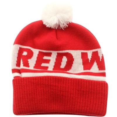 アメリカンニードル American Needle メンズ ニット ビーニー 帽子 Detroit Red Wings Voice Call Knit Beanie red/white
