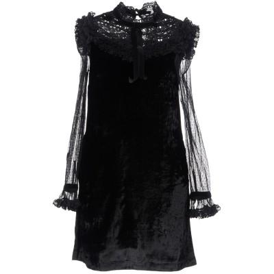 マヌーシュ MANOUSH ミニワンピース&ドレス ブラック 34 レーヨン 100% / ナイロン / ポリエステル ミニワンピース&ドレス