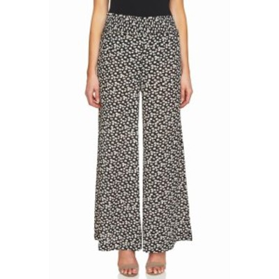 CeCe  ファッション パンツ CeCe Womens Pants Black Size XL Wide-Leg Floral Printed Shirred
