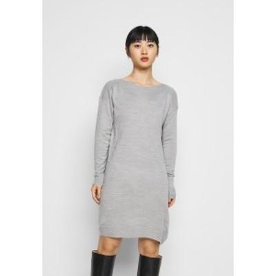 オンリー プティ レディース ワンピース トップス ONLAMALIA DRESS - Jumper dress - light grey light grey