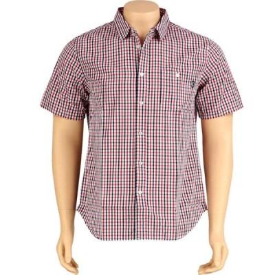 アンディフィーテッド Undefeated メンズ 半袖シャツ トップス Plaid Woven Short Sleeve Shirt red