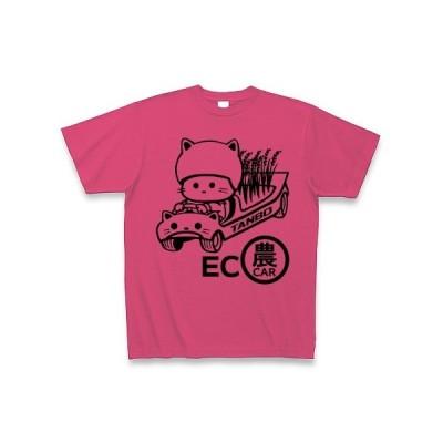 ECO農CARとねこ Tシャツ(ホットピンク)