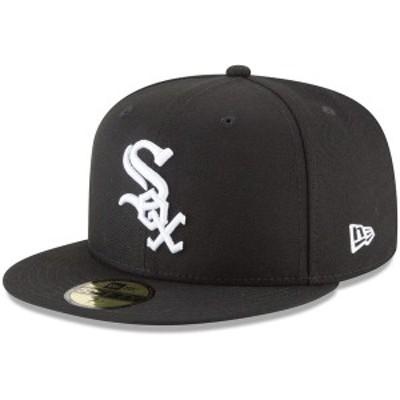 ニューエラ メンズ 帽子 アクセサリー Chicago White Sox New Era 59FIFTY Fitted Hat Black