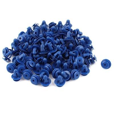 uxcell クリップ リベット 100個入り ブルー ドアトリム トリムクリップ