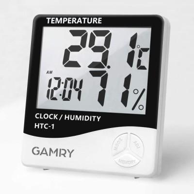 デジタル温湿度計 温度計 湿度計 置き掛け両用タイプ LCD大画面 高精度 ℃/切替 最高最低温湿度表示 メモリー機能 室内温度計湿度計 時計 目覚