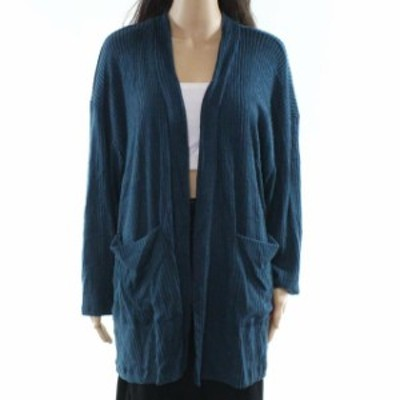 Lush ラッシュ ファッション トップス Lush NEW Blue Womens Size Small S Ribbed Knit Open Cardigan Sweater