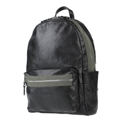 ディーゼル DIESEL バックパック&ヒップバッグ ブラック 羊類革 100% / 鉄 / 真鍮/ブラス バックパック&ヒップバッグ