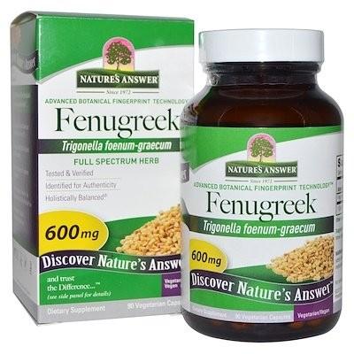 フェヌグリーク、600 mg、ベジカプセル90粒