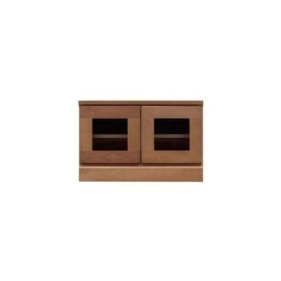 ds-1753238 2段ローボード/テレビ台 【Aタイプ/幅60cm】 木製 扉収納付き 日本製 ブラウン 【完成品】【玄関渡し】