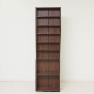 [幅60] デザイン本棚(ブラウン) 薄型スリム 大容量ラック ブックシェルフ 書斎収納 仕事も、本も、スマートに片付ける。