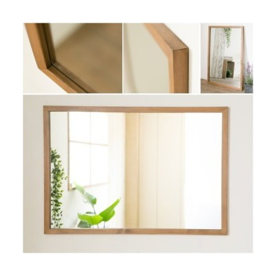 木枠 鏡 洗面所 おしゃれ 洗面台 壁掛け 姿見鏡 全身鏡 木製 ミラー 美容室鏡 パイン 1000×700 木枠幅30mm