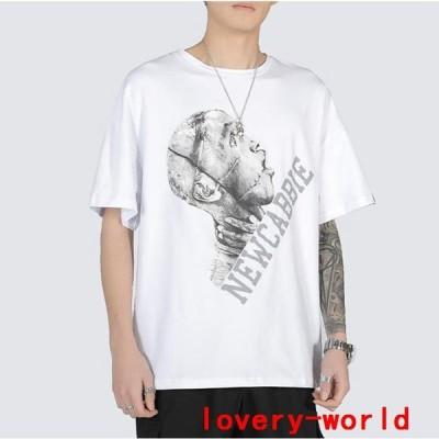 Tシャツメンズ半袖おしゃれカジュアルシャツクールネックトップスコットンカットソーポイント消化春夏2021