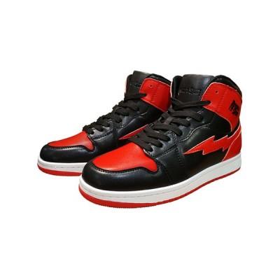 REVENGE × STORM MJ-HI リベンジ × ストーム スニーカー メンズ レディース ハイカット 黒 赤 RS-MJ-HI-BK-RD