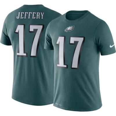 ナイキ Nike メンズ Tシャツ トップス Philadelphia Eagles Alshon Jeffery #17 Logo Green T-Shirt