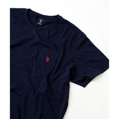 tシャツ Tシャツ 【U.S. POLO ASSN.】ユーエスポロアッスン ビッグシルエット刺繍クルーネックTシャツ