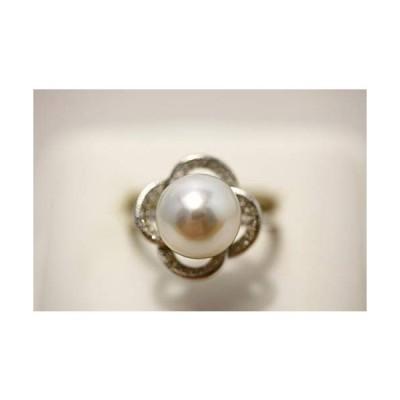 南洋白蝶真珠パールリング指輪 10mm ホワイトカラー シルバー製リング枠