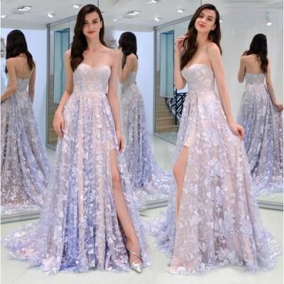 カラードレス パーティドレス ウェディングドレス ロング 花嫁 披露宴 二次会 発表会 結婚式 S~XL/NLF84