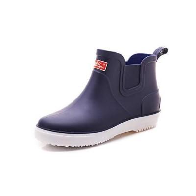 [TIOSEBON] レインシューズ メンズシューズ レインブーツ 雨靴 ショートブーツ 防水 滑り止め PVC 軽量 無地 歩きや
