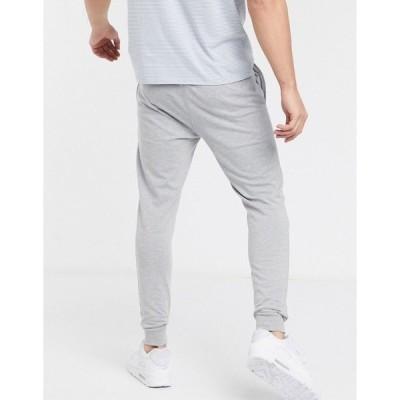エイソス メンズ カジュアルパンツ ボトムス ASOS DESIGN skinny lightweight sweatpants in gray GRAY MARL