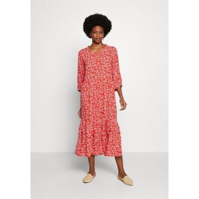 クリーム ワンピース レディース トップス DAISYCR FLOUNCE DRESS - Day dress - aurora red