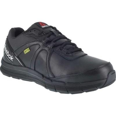 リーボック スニーカー シューズ メンズ Guide Work RB3506 Steel Toe Athletic Oxford (Men's) Black Leather