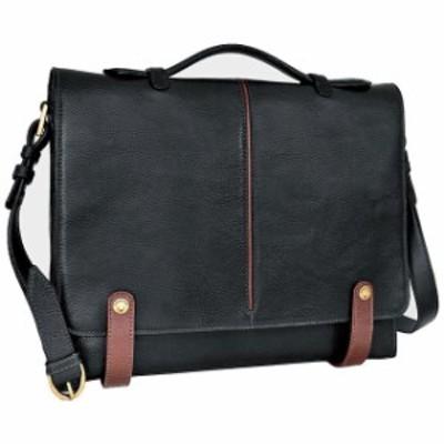 Eton イートン 旅行用品 キャリーバッグ Hidesign Eton Leather 15&#034 Laptop Compatible Briefcase Non-Wheeled Business Case