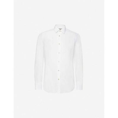 ポールスミス PAUL SMITH メンズ シャツ トップス Long-sleeved tailored-fit cotton shirt White
