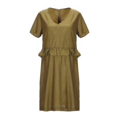 TWENTY EASY by KAOS ミニワンピース&ドレス ミリタリーグリーン 42 キュプラ 67% / コットン 33% ミニワンピース&ド