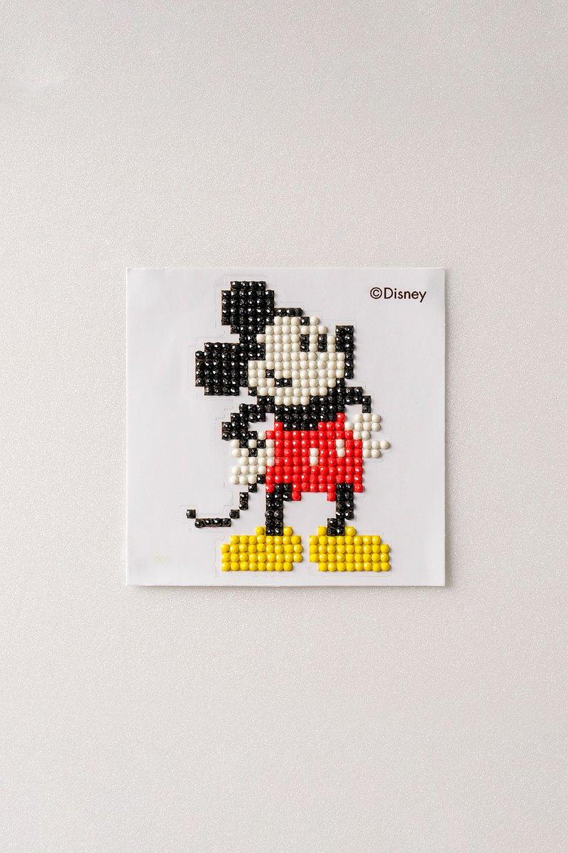 迪士尼-米奇 米妮-鑽石畫貼紙型10x10cm 讓小孩安靜的好幫手/手作