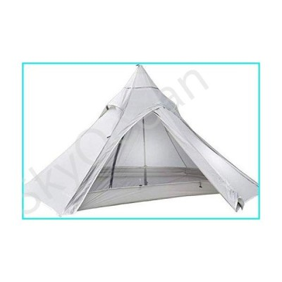 Lightweight Camping Tent, Dome Tent for Camping Oudoor 3 Season 2 Person 1KG Camping Tent Nylon Silicon Coating Rodless Tent (Color : Grey,