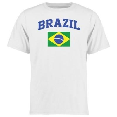 ファナティクス ブランデッド メンズ Tシャツ トップス Brazil Flag T-Shirt